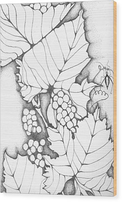 Time To Make Wine Wood Print by Sheba Goldstein