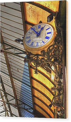 Times Wood Print by Barry R Jones Jr