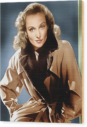 To Be Or Not To Be, Carole Lombard, 1942 Wood Print by Everett