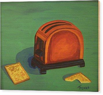 Toaster Wood Print by Cynthia Thomas