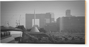 Tokyo New Constraction Wood Print by Naxart Studio