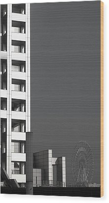 Tokyo's Devil's Wheel Wood Print by Naxart Studio