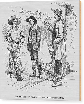 Tombstone Sheriff, 1883 Wood Print by Granger