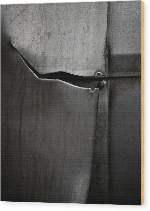 Torn Curtain Wood Print by Odd Jeppesen