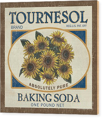 Tournesol Baking Soda Wood Print by Debbie DeWitt