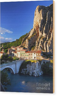 Town Of Sisteron In Provence France Wood Print by Elena Elisseeva