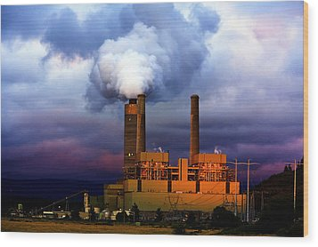 Toxic Beauty Wood Print by Wendy White