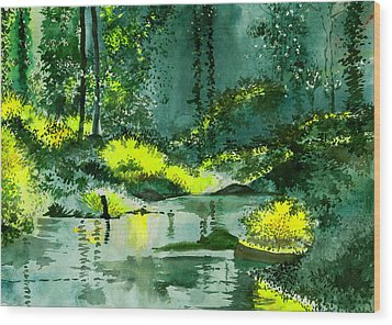 Tranquil 1 Wood Print by Anil Nene