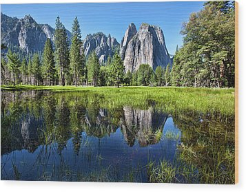 Tranquility In Yosemite Wood Print by Mimi Ditchie Photography