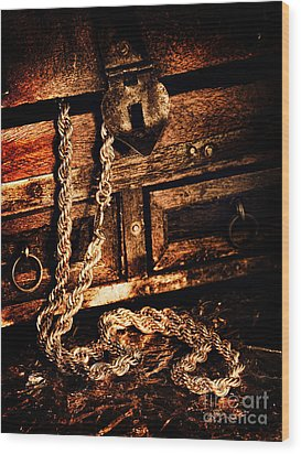 Treasure Box Wood Print by HD Connelly