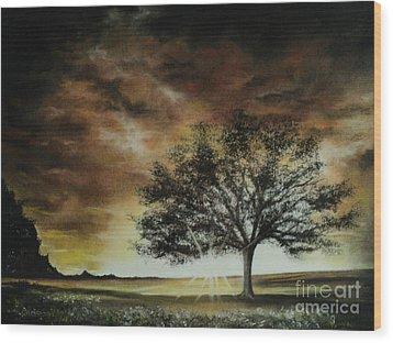 Tree Of Life Wood Print by Carla Carson