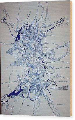 Triple Jump Wood Print by Gloria Ssali