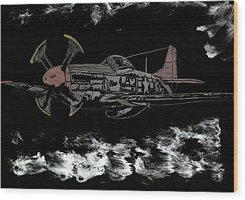 Tuskegee Night Flight Wood Print by Jim Ross