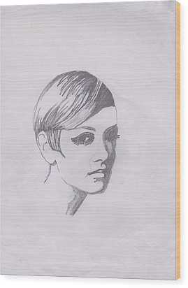 Twiggy Wood Print by Marie Hough