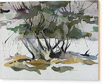 Twilight Tree Wood Print by Mindy Newman
