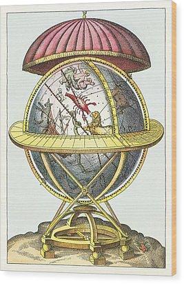 Tycho's Great Brass Globe Wood Print by Detlev Van Ravenswaay