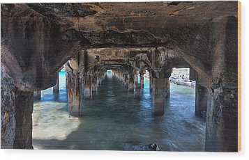 Under The Boardwalk Wood Print by James Roemmling