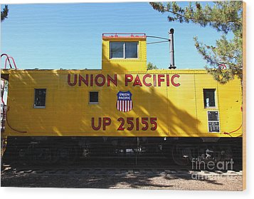 Union Pacific Caboose - 5d19206 Wood Print by Wingsdomain Art and Photography