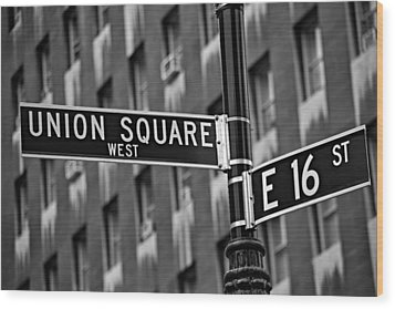 Union Square West Wood Print by Susan Candelario