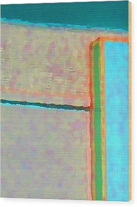 Wood Print featuring the digital art Up And Over by Richard Laeton