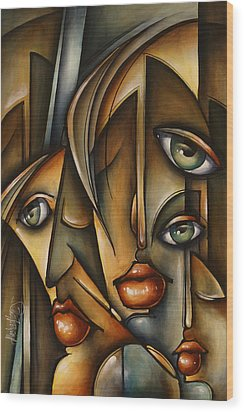 Urban Expression Wood Print by Michael Lang