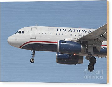 Us Airways Jet Airplane  - 5d18394 Wood Print by Wingsdomain Art and Photography