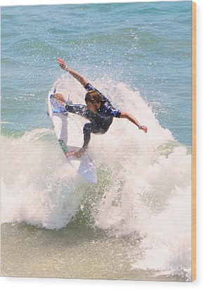 Us Open Of Surfing 2012      4 Wood Print by Jason Waugh