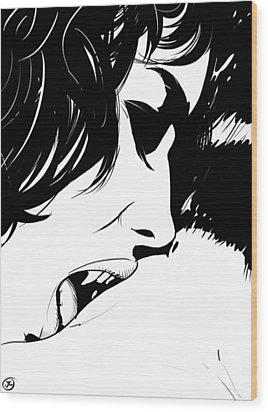 Vampire Kiss Wood Print by Giuseppe Cristiano