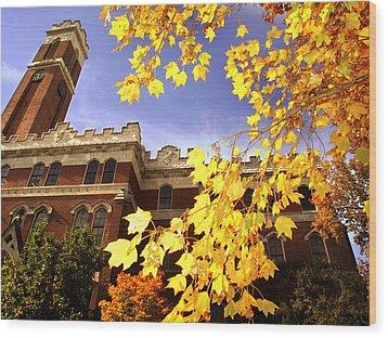 Vanderbilt Kirkland Hall In The Fall Wood Print by Vanderbilt University