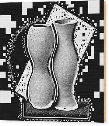 Vases Wood Print by Mauro Celotti