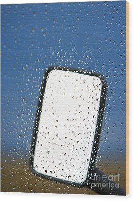 Vehicle Side Mirror Wood Print by David Buffington