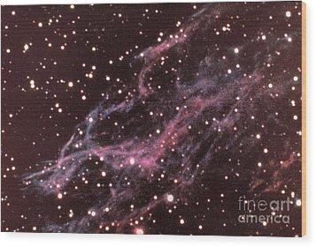 Veil Nebula In Cygnus Wood Print by USNO / Science Source