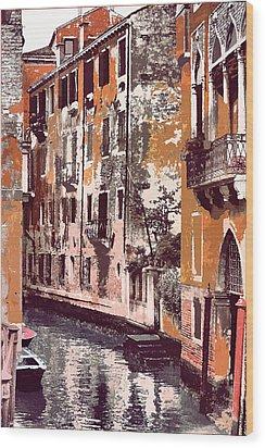 Venetian Serenity Wood Print by Greg Sharpe