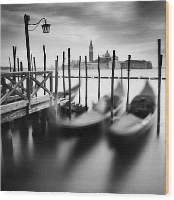 Venice Gondolas Wood Print by Nina Papiorek