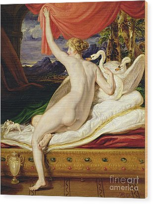 Venus Rising From Her Couch Wood Print by James Ward
