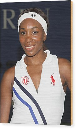 Venus Williams At A Public Appearance Wood Print by Everett