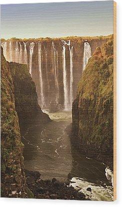 Victoria Falls Wood Print by Rob Verhoeven & Alessandra Magni