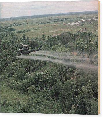 Vietnam War, Defoliation Mission Wood Print by Everett