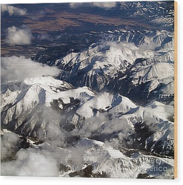 View From Above Iv Wood Print by Patricia Griffin Brett