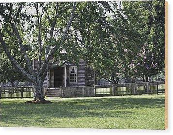 View Of Jones Law Offices Appomattox Virginia Wood Print by Teresa Mucha
