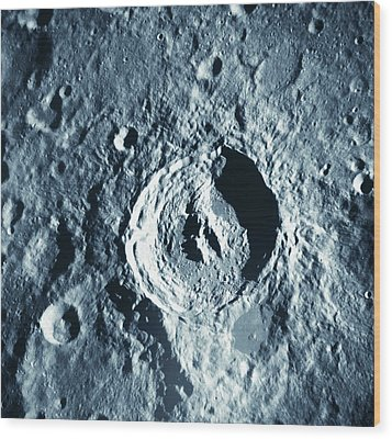 View Of Landscape Of The Moon Wood Print by Stockbyte