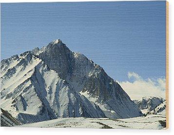 View Of Snow-covered Mountain Ridges Wood Print by Gordon Wiltsie
