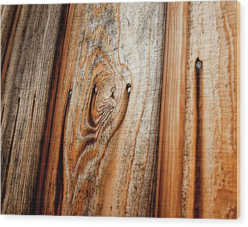 View Of Wooden  Ply Wood Print by Veronique Regimbal photographie