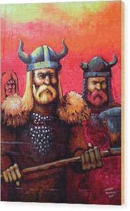 Vikings Wood Print by Edzel marvez Rendal