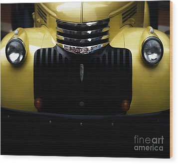 Vintage Chevy Pickup Truck Wood Print by Steven  Digman