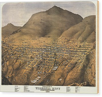 Virginia City Nevada 1875 Wood Print by Donna Leach