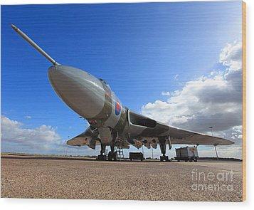 Vulcan Xh558 Wood Print by Clare Scott