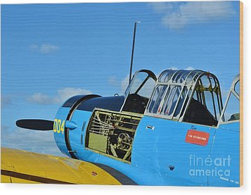 Vultee Bt-13 Valiant  Wood Print by Lynda Dawson-Youngclaus