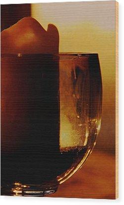 Waiting For A Light Wood Print by Odd Jeppesen