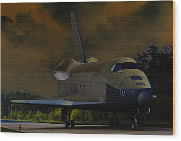 Waiting For Discovery Wood Print by Lawrence Ott